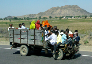 Budget group travel on a jugaad in India