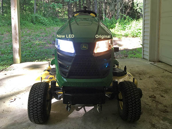 Tractor Headlights Comparison : Now my deere can see and be seen